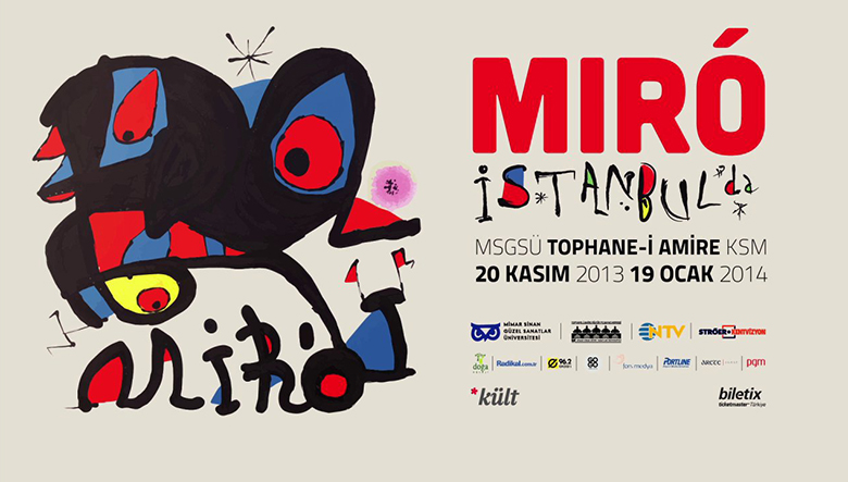 Joan Miro Exhibition Promo